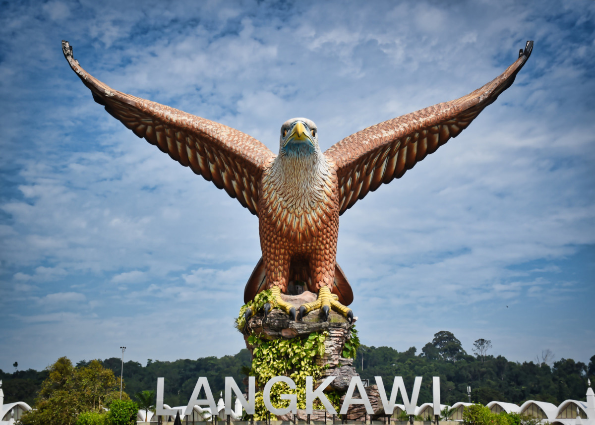 Eagle Square, Dataran Lang is one of Langkawi's best known man-made attractions, a large sculpture of an eagle poised to take flight